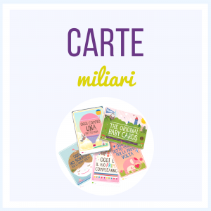 Milestone Baby Cards in Italiano
