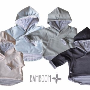hooded cardigan double face Bamboom Babywear