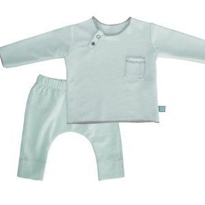 twin set verde bamboom babywear